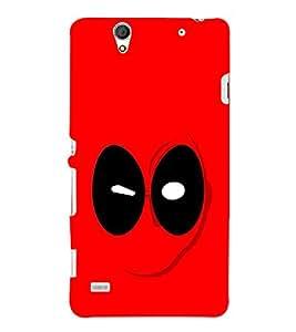 Fuson Designer Back Case Cover for Sony Xperia C4 Dual :: Sony Xperia C4 Dual E5333 E5343 E5363 (Mask Red Mask Man Red Mask Black eyes)