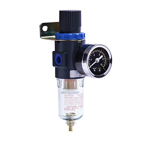 """Separador de agua con aire comprimido Reductor de presión para compresor, filtro de 1/4 """"Nuevo profesional"""