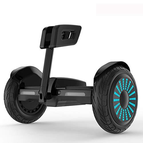 FYJ Elektro-Scooter Self-Balancing-Roller Go-Kart in LED-Leuchten Bluetooth-Lautsprecher-Geschenk Errichtet für Kinder und Erwachsene,Schwarz