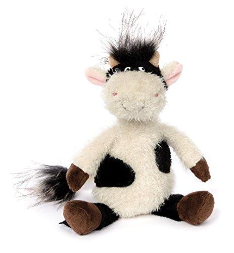 sigikid, Stofftier für Erwachsene und Kinder, Kuh klein, AchGood Family und Friends, Weiß und Schwarz, 38721 Kuh Stofftier Klein