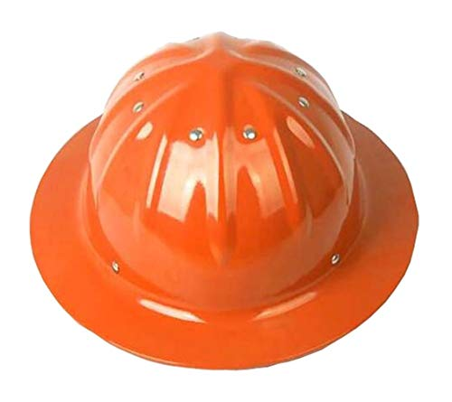 Aluminiumhelm,Aluminium Helm, Bau Helme, Aluminium Hard Hüte, Sonnenschutz, Außenhelm, Sonnenschutz (Farbe : Orange)
