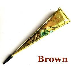 YIDADIAN Tatuaje de Henna Todo el Arte Corporal Natural Listo para Usar Tatuaje Temporal Orgánico Conos de Tatuaje a Prueba de Agua Tinta de Tatuaje de Henna