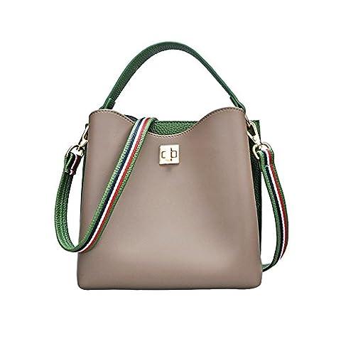 Sprnb Alle-Match Satchel Freizeitaktivitäten Farbe Bucket Bag Handtasche