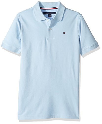 Tommy Hilfiger Boys' Little Stretch Ivy Polo, Capri Blue, 7