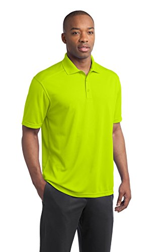 ... sport-tek Herren 's Active Strukturierte Polo Sport Shirt Grün - Citron