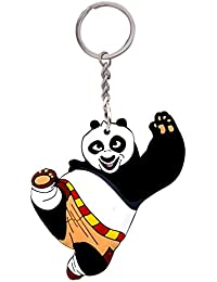 GCT Double Sided Kung Fu Panda Karate Animal Cartoon Movie Character Rubber Keychain | Keyring | Key Ring For...