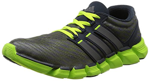 adidas, Adipure Crazy Quick , Scarpe sportive, Uomo, Multicolore (Night Shade F13 / Carbon Met. S14 / Solar Slime), 42