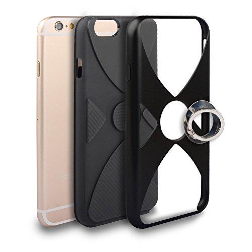 iPhone 6 Plus/6S Plus Coque, Voguecase 2 in 1 TPU + PC [Anneau Series] avec Absorption de Choc, Etui Silicone Souple, Légère / Ajustement Parfait Coque Shell Housse Cover pour Apple iPhone 6 Plus/6S P Noir
