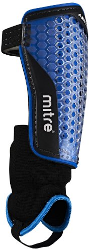 Mitre Fußballschienbeinschoner Aircell Power Ankle Protect, Cyan/White, L, S70002