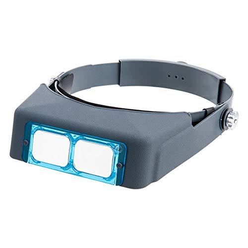 ZJHTK 1.5X/2X/2.5X/3.5X Lupe,4 Wechselobjektive,Lupenbrille mit Licht Hände Frei Kopfband Standlupe für Hobby,Elektriker,Juweliere,Nähen,Handwerk,und ältere Menschen 4 X Lupe