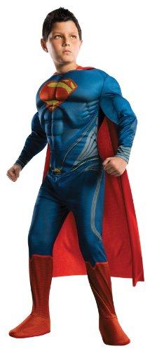 Deluxe Superman Kostüm für Kinder, (Deluxe Kostüme Superman)