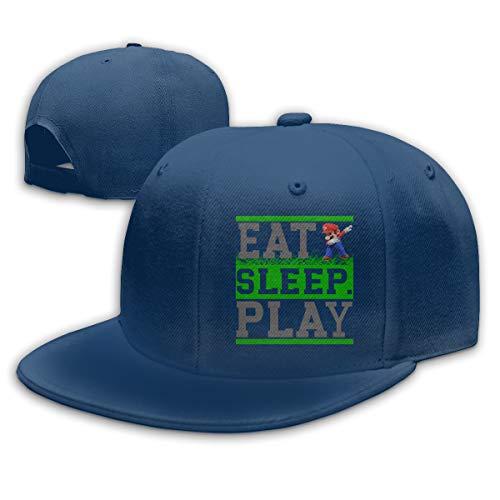 Abigails Home Essen Sie Schlaf Play-2 justierbare Baseballmütze Hip-Hop Hut Mens Sports Navy Abigail Caps