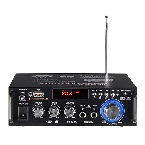 SODIAL 600W Amplificadores para Casa Amplificador de Audio Bluetooth Subwoofer Amplificador Sistema de Sonido de Cine En Casa Mini Amplificador Profesional