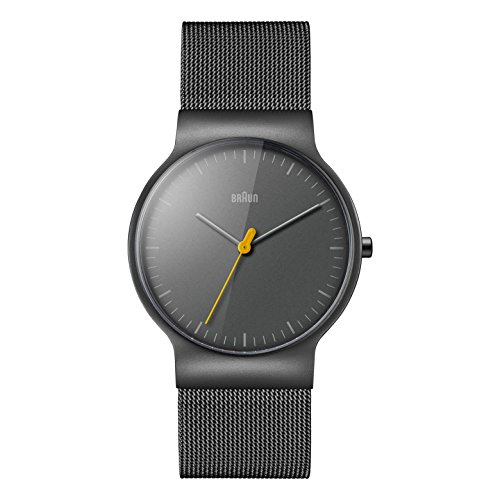 Braun Mens Quartz Watch, Analogue Classic Display and Stainless Steel Strap BN0211TIMHG