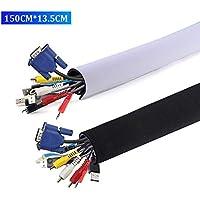 AGPTEK Universal Funda con Velcro para Cables en Material Elastico de Neopreno (Longitud 1.50 m, 13.5 cm de Amplia), 1 Pieza