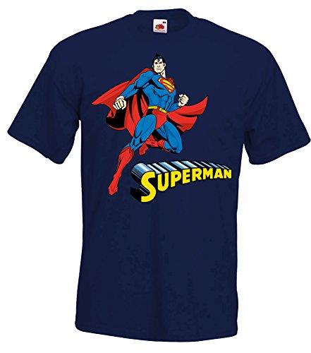 TRVPPY Herren T-Shirt Modell Superman, Navyblau, 3XL (Emo T-shirt Krieg)