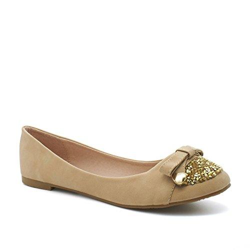 London Footwear - Ballet donna Beige