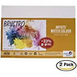 Brustro Artists' Watercolour Paper 200 GSM A4-25% cotton CP 2 Packets (Each Packet Contains 9 + 3 Sheets Free)