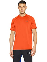 Under Armour Herren UA Tech Short Sleeve Tee Kurzarmhemd, Magma Orange, L