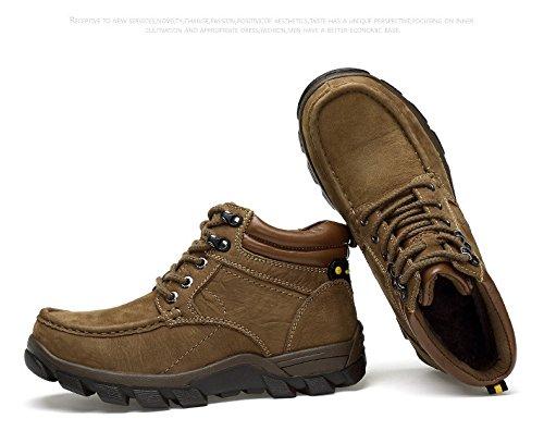HHY-Confortevole e breathableWinter alta aiutare caldo calzature outdoor antiscivolo codice grandi uomini scarpe da escursionismo KhakiPlus cashmere