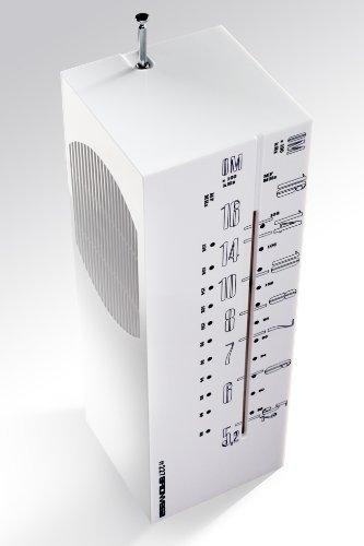 BRIONVEGA Gratticielo rr327 Design Radio (FM/AM, USB, Kartenleser, MP3 kompatibel, 1x Audio-In, Stereo-Kopfhörer-Buschse) weiß