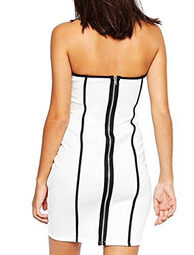E-Girl SY22177 femme sexy robe bodycon Blanc