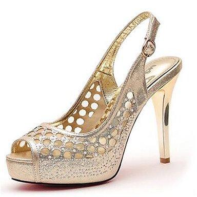 NVXZD mary stivali inverno delle donne jane PU tacco grosso casuale Oro
