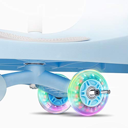 Twist car Swing car Children Universal Wheel Yo Car 1-3-6 Years Old Silent Wheel Swing Car Baby Toy Scooter FANJIANI (color : Blue)  FANJIANI