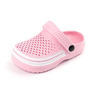 Kids Sandals Clogs,Boy/Girls Shoes Summer Beach/Pool/Garden Mules for Unisex Children Pink