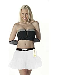 Crazy Chick 2 Layer Women's White Angel Tutu Skirts Dance Costume Hen Night Party