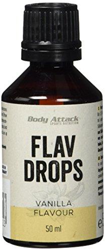 Body Attack Flav Drops, Vanilla, 1er Pack (1 x 50 ml)