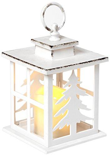 Heitmann deco 92444, lanterna con candela a led, bianco, 12x 18, 5cm