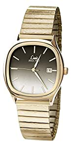 Limit Men's Quartz Watch with Brown Dial Analogue Display and Gold Stainless Steel Bracelet 5500.01