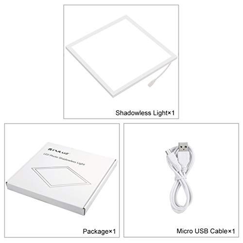 PULUZ Mini-LED-Fotografie Schattenlos Bottom Licht 22.5cm schattenfreies Licht-Lampen-Panel-Pad für 20cm Foto-Studio-Box -