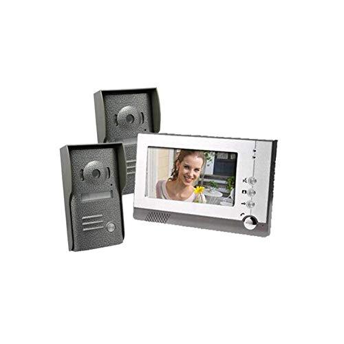 XHZNDZ Video-Türklingel - Video-Intercom-7-Zoll-Monitor Smart-Video-Türsprechanlage 1-Edelstahl-Kamera 1-Monitor-Nachtsicht-Touchscreen