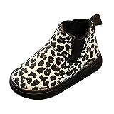 WEXCV Unisex-Kinder Boots Stiefel Winter Schneeschuhe Warme Baby Mädchen Leopard Verdicken Prinzessin Neugeborene Babyschuhe Krabbelschuhe Wanderer Schuhe