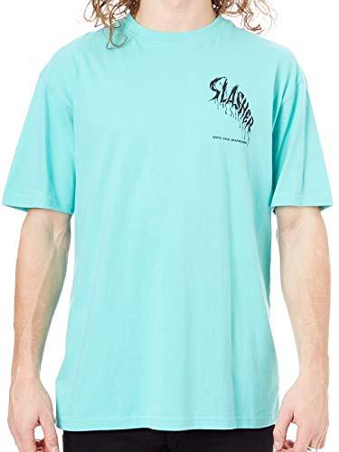 Santa Cruz Spearmint Wave Slasher T-Shirt (X-Large, Grun) (Santa-t-shirt)