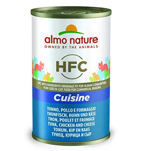 Almo Nature HFC Cuisine-Thon, Poulet et Fromage (Lot de 24x 140g Boîtes)