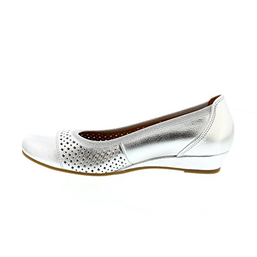 Gabor Samara Low Wedge Ballet Pump Silber