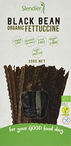Slendier Black Bean Organic Fettuccine, 200 g, Pack of 6