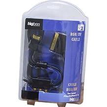 Prise audio vidéo + câble péritel blindé antiparasitage (PS3 & PS2)