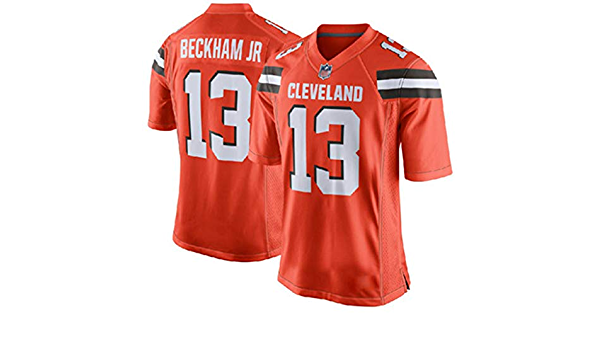 Sweatshirt YDYL-LI American Football Cleveland Browns # 13 Odell Beckham Jr Jersey Breathable Fans Relaxed And Comfortable T-Shirt White,XL
