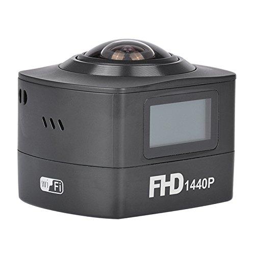 AMKOV amk100s cámara impermeable panorámica fish-eye 360grados Negro