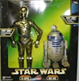 Electronic C-3PO and Electronic R2-D2 'A New Hope' 12' Inch passed Actionfigurset - Star Wars Power of the Force Collection 1998 Hasbro
