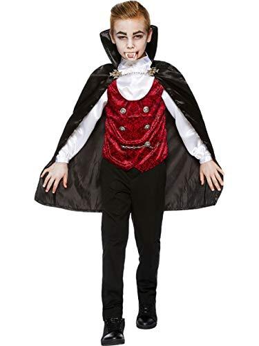 Fancy Me Jungen Teenager dunkel Vampir unheimlich traditionell Halloween GRAF Dracula Transsylvanien Kostüm Kleid Outfit 4-14 Jahre - 12-14 Years