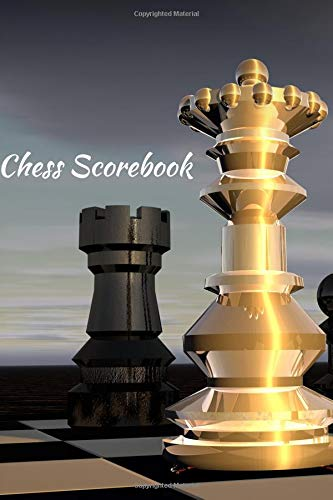 Chess Scorebook: Paperback Journal Match Scorebook to Keep Record of Your Games Log Wins Moves & Strategy Medium Size Notebook, Easy to Carry and also ... seconds spent on each move (Chess Records)
