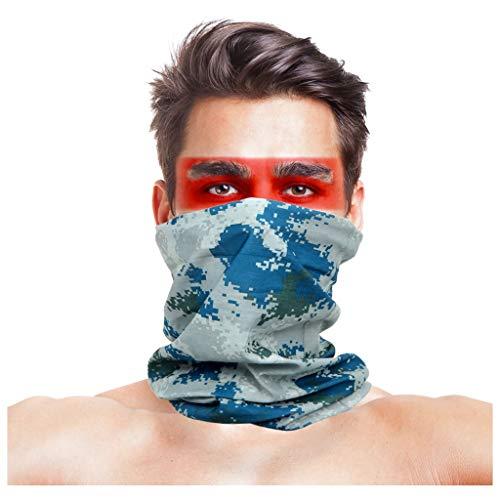 Sciarpa mimetica, multifunzionale tattico esterno foulard per il combattimento, caccia, alpinismo, escursionismo, attività all'aperto in bicicletta, adatto per uomini e donne ( colore : camouflage 1 )