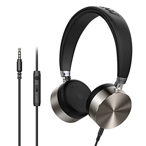 [2019 Actualización] Mpow HC1 Auriculares Diadema con Cable, Cascos Niños con 3.5MM Audio Cable, Auriculares con Micrófono, Control en línea para Móvil/Tableta/MP3/MP4