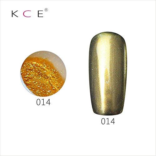 topbeauty Nail Art Paillettes Brillant miroir chrome Pigment poudre Nail Art Outils avec éponge à 14