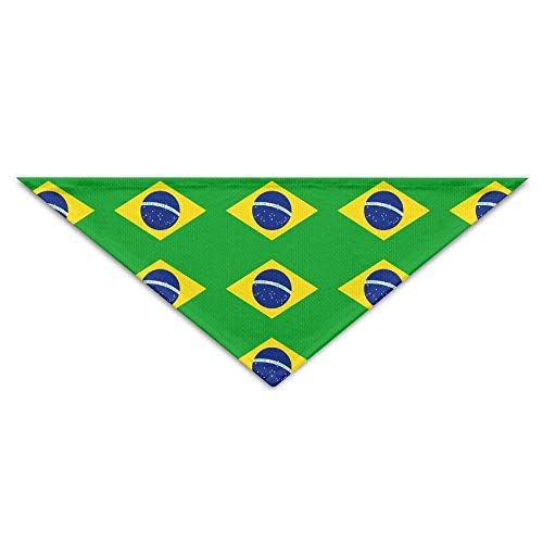 Pet Scarf, Flag of Brazil Dog Bandanas Scarves Triangle Bibs Scarfs Funny Basic Neckerchief Cat Collars Pet Costume Accessory Kerchief Holiday Birthday Gift